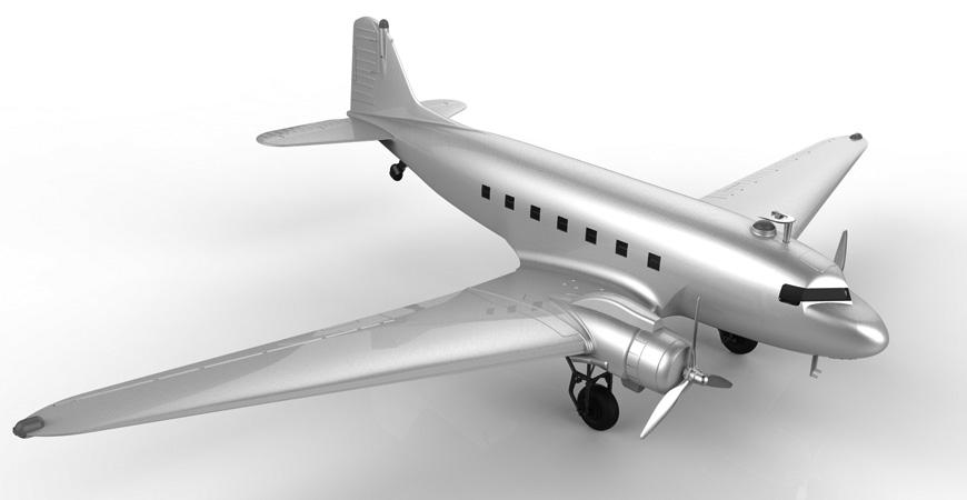 仿真飞机模型设计 玩具设计